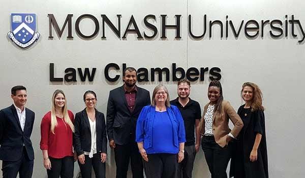 WMU-Cooley students at Monash University