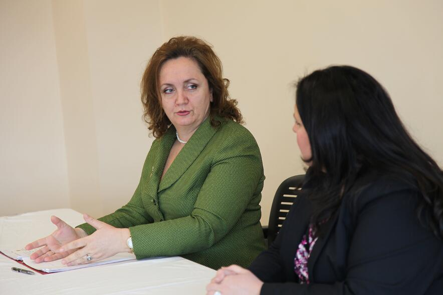 Albanian Ambassador Floreta Fabor speaks at WMU-Cooley event