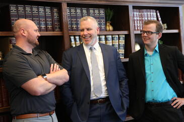 McDonald Pierangeli Macfarlane now boasts having three hard-working WMU-Cooley graduates in their law firm; Paasch, Nicholas Romer and Erick Bradtke.