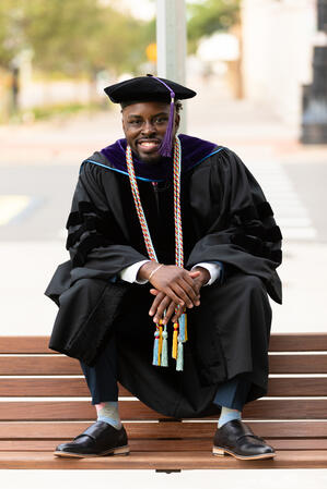 Jaevonn Harris at graduation