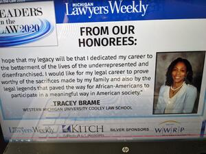 WMU-Cooley Associate Dean Tracey Brame