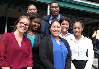 WMU-Cooley student Daniela Mendez and fellow law students