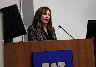 Judge Linda Davis speaking during WMU-Cooley Opioid Crisis Panel Discussion