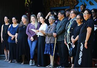 The Maori Leaders and WMU-Cooley students learned songs together