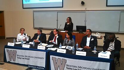 panel speakers at WMU-Cooley law review symposium