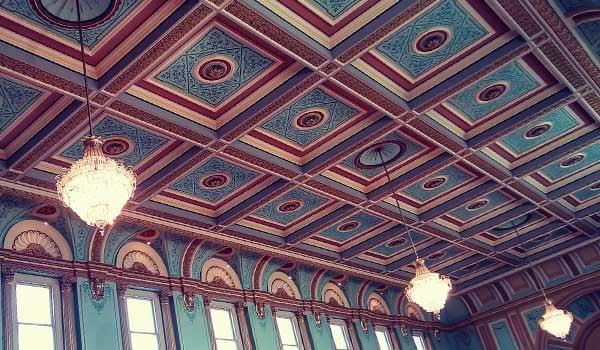 Beautiful decorative ceiling in parliament